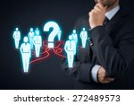 human resources officer think... | Shutterstock . vector #272489573