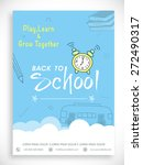 stylish back to school template ... | Shutterstock .eps vector #272490317