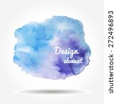 watercolor blue spot on a white ... | Shutterstock .eps vector #272496893