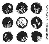 vector ink sketch spots with... | Shutterstock .eps vector #272497697