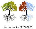 tree at four seasons. trees... | Shutterstock . vector #272503823