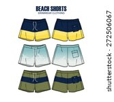 men beach shorts vector apparel ... | Shutterstock .eps vector #272506067