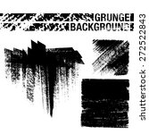 set of black ink vector stains  ...   Shutterstock .eps vector #272522843