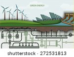 green energy. wind powered... | Shutterstock .eps vector #272531813