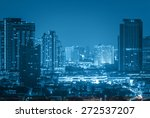 bangkok cityscape river view at ... | Shutterstock . vector #272537207