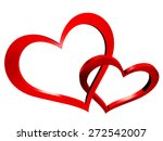 two hearts | Shutterstock . vector #272542007