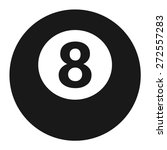 Billiards 8 Ball Pool Flat Ico...