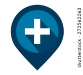 blue map pointer icon with... | Shutterstock . vector #272562263