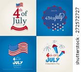 happy independence day card set ... | Shutterstock .eps vector #272572727