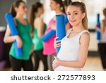young pregnant woman is holding ... | Shutterstock . vector #272577893