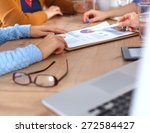 business people sitting and... | Shutterstock . vector #272584427