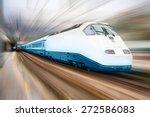high speed train  | Shutterstock . vector #272586083