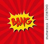 boom. comic book explosion.hand ... | Shutterstock .eps vector #272587043