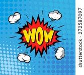boom. comic book explosion.hand ... | Shutterstock .eps vector #272587097