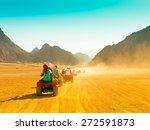 motorcycle safari egypt people... | Shutterstock . vector #272591873