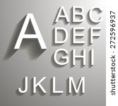 bevel font with shadow in eps 10 | Shutterstock .eps vector #272596937