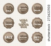 labels for clothing store | Shutterstock .eps vector #272622503