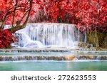 kouangxi waterfall at luang... | Shutterstock . vector #272623553