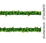 Green Leaves Seamless Frame...