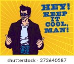 stay cool  dude in leather... | Shutterstock .eps vector #272640587