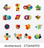set of modern geometric... | Shutterstock .eps vector #272646953