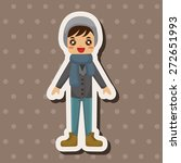 boy man cartoon theme elements | Shutterstock .eps vector #272651993