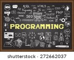 hand drawn about programming on ... | Shutterstock .eps vector #272662037