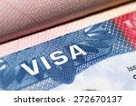 Visa Stamp Travel Passport...
