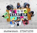 start up business new launch...   Shutterstock . vector #272671253