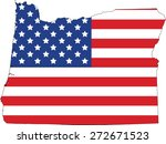 map and flag of oregon | Shutterstock .eps vector #272671523