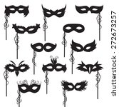 set of isolated carnival masks | Shutterstock .eps vector #272673257