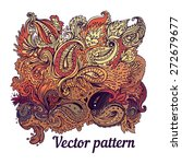 vector colorful paisley texture ... | Shutterstock .eps vector #272679677