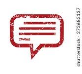 red grunge talk logo on a white ... | Shutterstock .eps vector #272682137