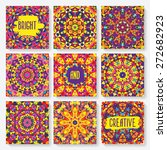 Set Of Cards With Kaleidoscope...