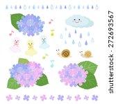set of rainy season elements  ... | Shutterstock .eps vector #272693567