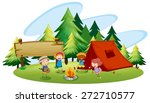 children camping out in the park | Shutterstock .eps vector #272710577
