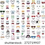 set of cartoon faces with... | Shutterstock .eps vector #272719937