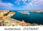 Cruise Liner Leaving Valletta ...