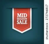 Mid Season Sale Ribbon Element...