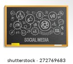 social media hand draw... | Shutterstock .eps vector #272769683