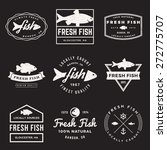 vector set of fresh fish labels ... | Shutterstock .eps vector #272775707