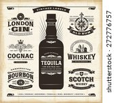 vintage alcohol labels... | Shutterstock .eps vector #272776757