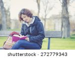 young girl writing in daily... | Shutterstock . vector #272779343