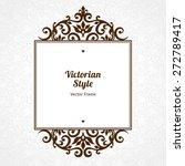 vector decorative frame in... | Shutterstock .eps vector #272789417