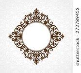 vector decorative frame in... | Shutterstock .eps vector #272789453