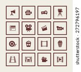 cinema icon set   Shutterstock .eps vector #272796197