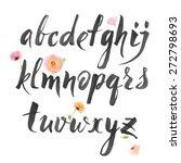 hand drawn alphabet written... | Shutterstock .eps vector #272798693