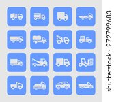 truck icon set | Shutterstock .eps vector #272799683