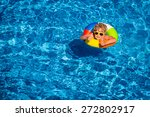 happy child playing in swimming ... | Shutterstock . vector #272802917