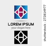 letter h logo symbol   vector... | Shutterstock .eps vector #272814977